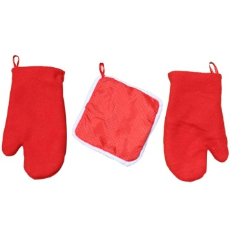 1 Set Heating Pad Gloves Christmas Home Microwave Oven Dedicated - intl - picture 2