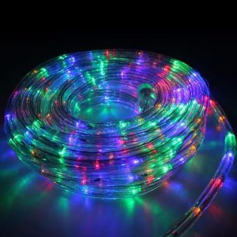 10 meters led outdoor Christmas rope lights with remote control-Multicolor