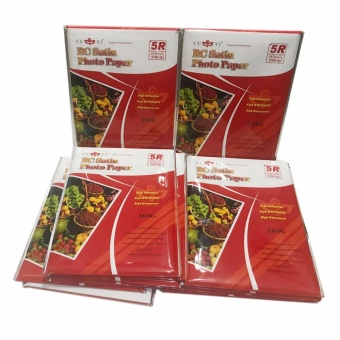 10 Packs of Cuyi RC Satin Photo Paper 5R 260G