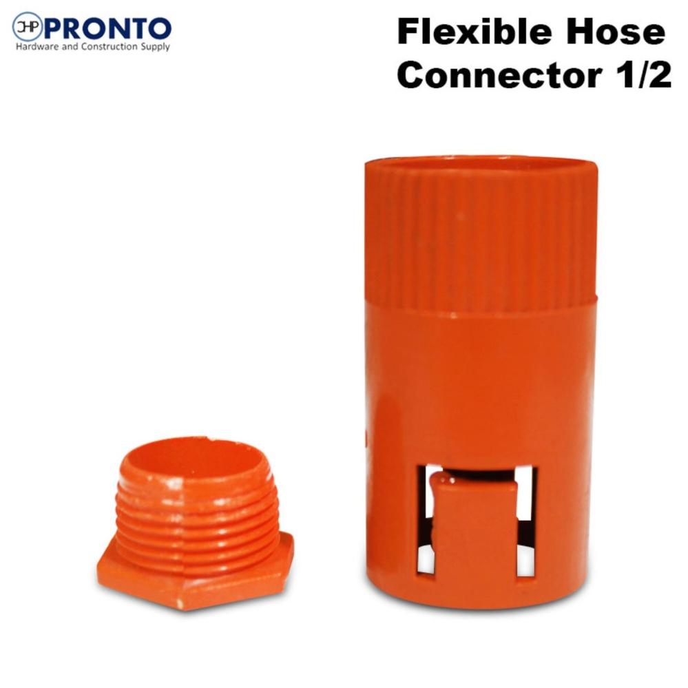 10 Pcs Flexible Hose Connector 1/2 (Orange) Philippines
