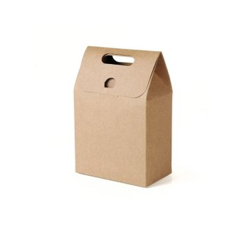 10 Pcs Kraft Paper Foldable Snacks Bags Candy Box Wedding GiftsPackage size:S - intl - 2