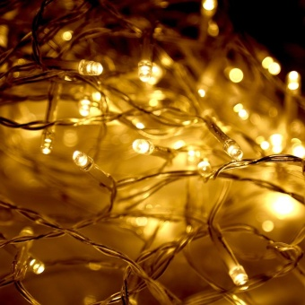 100 LED String Lights Christmas Garden Party Decor Fairy Lights with Remote Control Warm White - intl