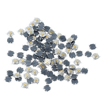 100 Pcs Momentary Pushbutton Microswitch Tactile Tact Switch Replacement Parts - Intl