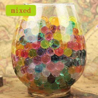 100 PCS Wedding Crystal Water Bubble Bead Used for Sensory Toys andDecor, Orbeez refill, Vase Filler, Soil, Plant decoration, BambooPlants (Mixed Colors)
