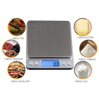 1000g x 0.1g Digital Electronic Scales Portable Jewelry &Kitchen Precision Balance Weight Weighing Scale - intl