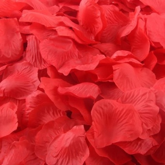 1000pcs RED Silk Rose Artificial Petals Wedding Party Flower Favors Decor - intl