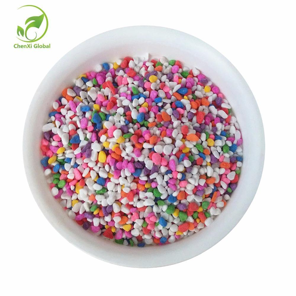 Philippines 100g Pack Colorful Stones Small Flower Pot Fish