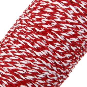 100M Wrap Gift Cotton Rope Ribbon Twine Rope Cord String Red, White - 4
