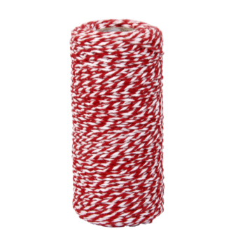 100M Wrap Gift Cotton Rope Ribbon Twine Rope Cord String Red, White - 5