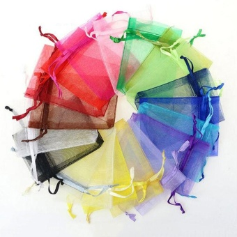 100pcs 7x9cm Organza Jewelry Pouch Bags Wedding Party Favor GiftCandy Bag - intl