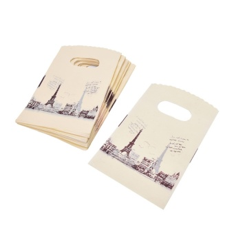 100pcs Carry Out Retail Supermarket Grocery Plastic Shopping Bag -intl Price Philippines