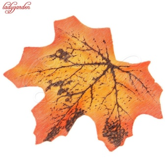 100Pcs Cheap Artificial Flowers Maple Leaves Multicolor Autumn FallLeaf For Art Scrapbooking Wedding Party Home Decor Crafts - intl