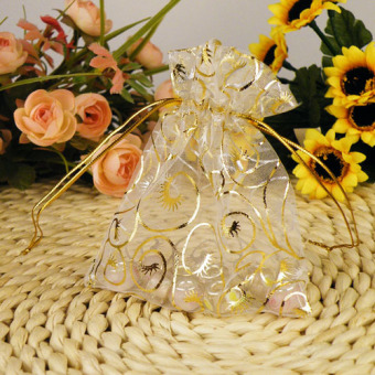 100pcs Jewelry Candy Organza Pouch Bags Wedding Party Favor Gift