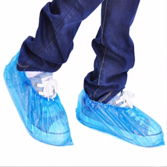 100PCS Medical Waterproof Boot Covers Plastic Disposable ShoeCovers Overshoes - intl - 2