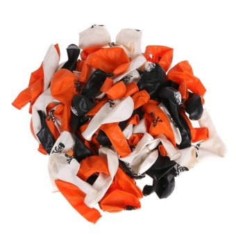 100pcs Mixed Halloween Birthday Party Decoration Supplies Latex Balloons - intl