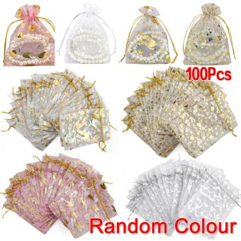 100pcs Mixed Organza Pouch Gift Wedding Bead Candy Gift Bags Pouches (Intl)