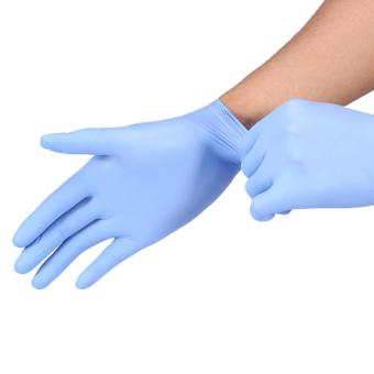 100Pcs/Box Tattoo Nitrile Disposable Latex Gloves (Blue S) - intl