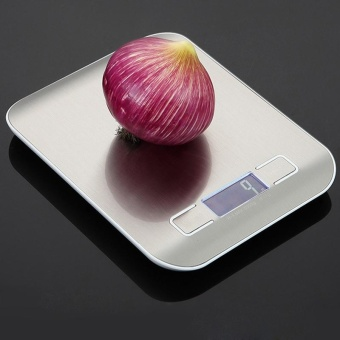 10kg/1g Silvery Digital Kitchen Scale Food Scale Measuring ToolsStainless Steel Electronic Weighing Scale - intl