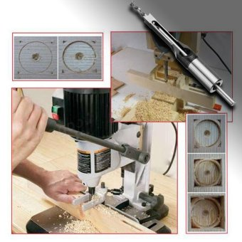 10mm HSS Square Hole Saw Mortise Chisel Wood Drill Bit with TwistDrill - intl - 2