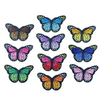 10PC New Color Butterfly Collar Sew Patch Applique BadgeEmbroidered - intl