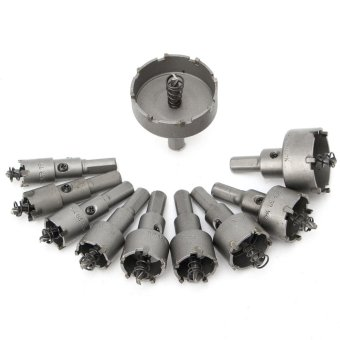 10Pcs Carbide Tip TCT Drill Bit Hole Saw Set Stainless Steel Metal Alloy 16-50mm - intl
