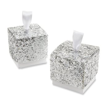 10pcs Glitter Silver Paper Candy Favor (Intl)