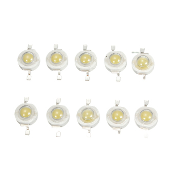 10Pcs High Power 3W Epistar Bulb LED Chip Diode Lamp Cold/Warm Emitting Beads
