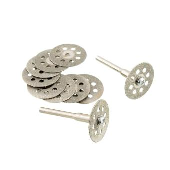 10PCS Mini 22mm Vented Rotary Diamond Cutting Disks+Mandrel Dremel Tools DIY - 2