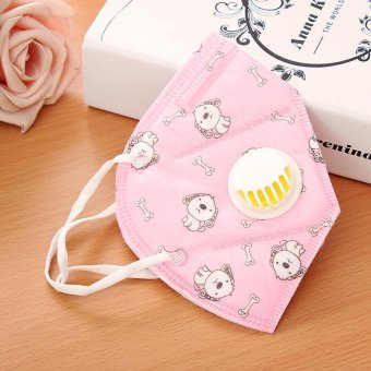 10pcs/lot Disposable Face Mouth Mask Anti Dust Hand Smoke SunProtection Masks PM 2.5 Cotton Mouth Mask Anti Flu with ExhalationValve Healthy Air Filter -- Floral Print Pink - intl