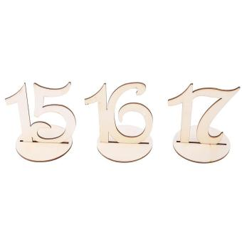 10pcs/Set Wooden Table Numbers Sign Stand Holder for Wedding Party Decor - intl - 3