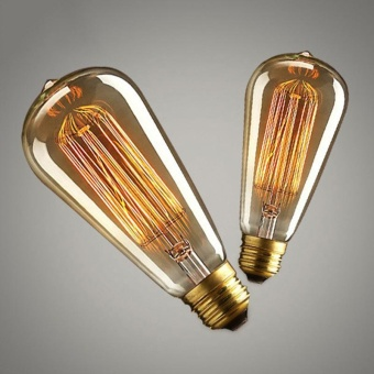 10W E27 220-240V Edison Light Bulb, Retro Yellow Light W-filamentBulb Coffee House Decor Industrial Style Lamp - intl