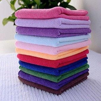 10x Multi-Color Soft Soothing Cotton Face Towel / Cleaning Wash Cloth Hand Towel - intl