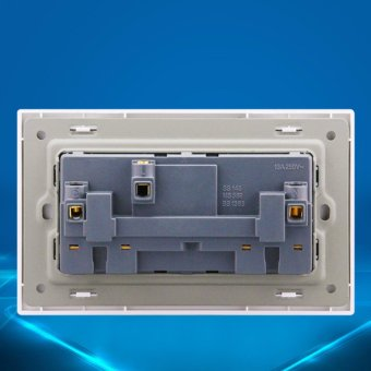 110-250V 13A UK Standard Wall Power Socket Panel 2 Gang LED Light Switch With 13A Wall Socket, Electric Outlet a8-031 - intl - 3