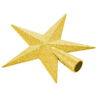 11Cm Home Decoration Five-Pointed Star Christmas Tree Thimble (Gold) - intl - 4