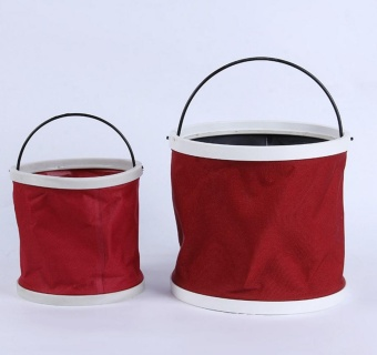 11L Fold-able Foldable Water Bucket Car Wash Water Pail Fishing Camping Bucket(red) - intl