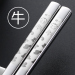 12 cartoon home non-slip heat resistant metal chopsticks stainless steel chopsticks