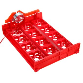 12 Chicken Eggs Turner For Automatic Duck Quail Bird Poultry Egg Incubator Tray Red - intl