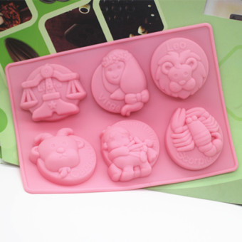 12 chocolate constellation of silicone cake mold