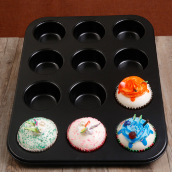 12 horse cake paper cups baking round non-stick cake mold