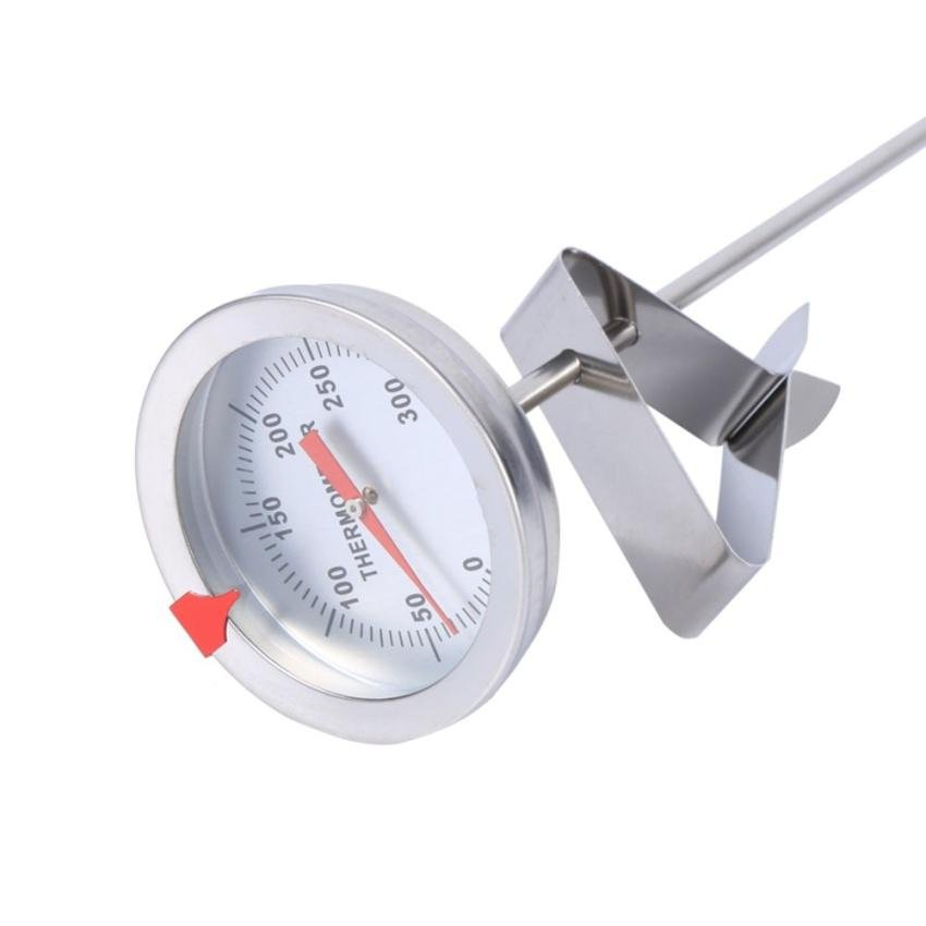 12 Long Stainless Steel Cooking Probe Thermometer With ClipForfood Meat Homebrew Wine Kettle Thermometer intl