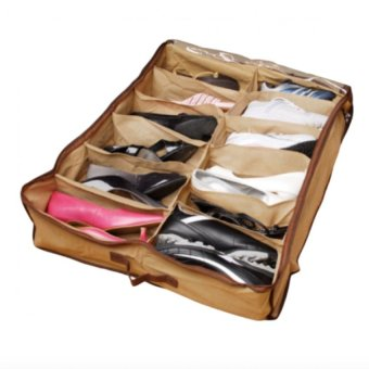 12 Pairs Shoes Organizer Holder Under Bed Closet Storage Fabric Bag
