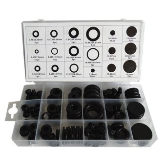 125pcs Black Grommet Rubber Washer Assortment Kit For Screw BoltM3.5/6/7.5/8/9.5/10/11.5/13/16/19.5/7/9/12/15/19/22/25 HW067 - intl Price Philippines