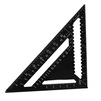 12inch/300mm Black Aluminum Alloy Speed Square Rafter Triangle Angle Square Layout Guide Construction Carpenter Woodworking - intl Price Philippines