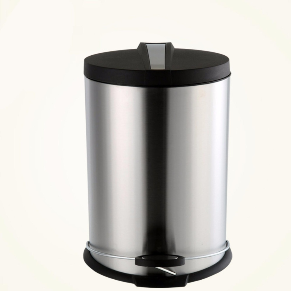 Metal Trash Can High Quality Dollhouse Miniature Garbage 1 Doll Home Stainless