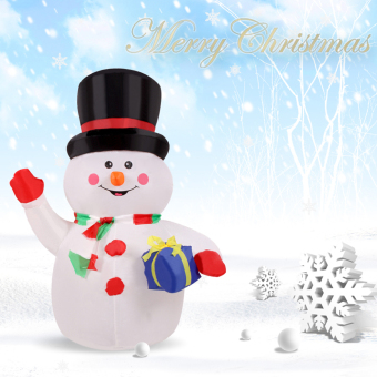 Inflatable waving hand snowman for christmas cute - Bonhomme de neige polystyrene ...
