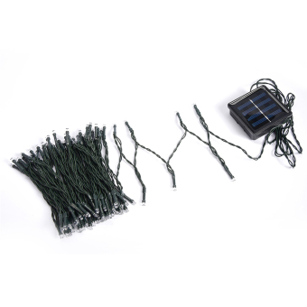 12M Solar 100 LED String Fairy Light Party Outdoor Garden Christmas White - picture 3