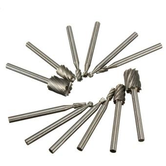 12pcs 1/8'' Shank HSS Router Bit Rotary Burr Dremel Milling Drill Cutter