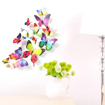 12PCS 3D PVC Magnet Butterflies DIY Wall Sticker Home Decor