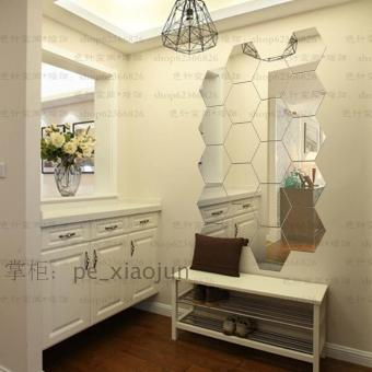 12PCS 3D Removable Mirror Wall Sticker Vinyl Decal Decor Decoration Art - intl