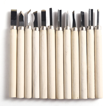 12PCS Carving Tool Group Wood Carving Set For Soft Material CarvingSchool Staionary Carving Tools Wooden Color (Intl) Price Philippines